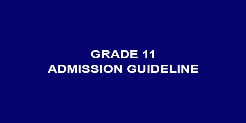 Government Publishes Admission Criteria for Grade 11